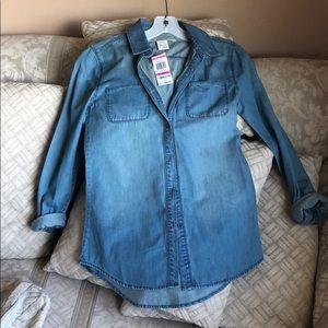Blue Denim buttoned shirt size xxs